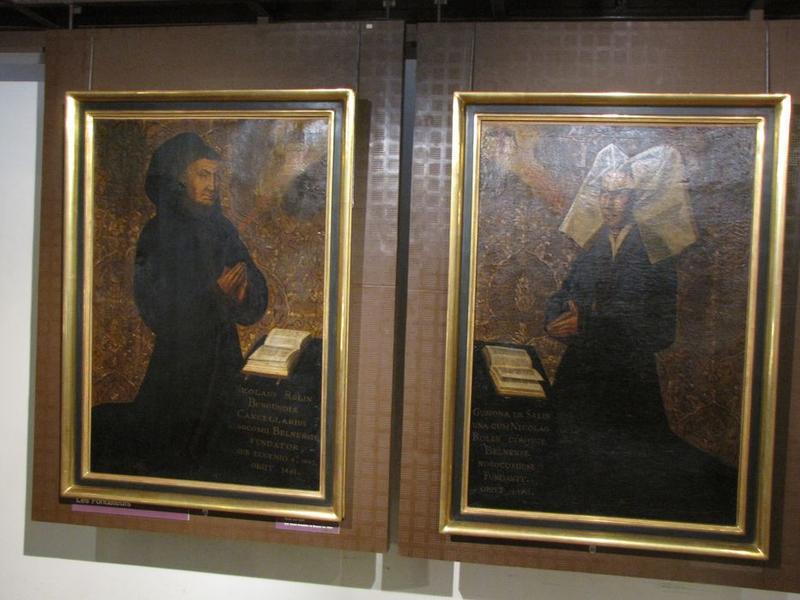 tableaux (2): portraits de Nicolas Rolin, portrait de Guigone de Salins
