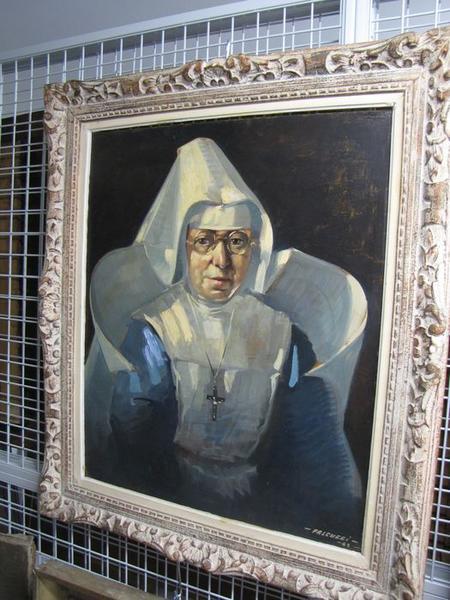 tableau : portrait de mère Grapinet, vue générale