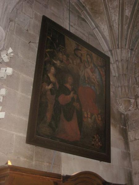 Tableau et son cadre : Vierge à l'Enfant dite Notre-Dame du Grand Secours