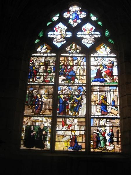 Verrière de la baie 29 : Vie et martyre de sainte Barbe