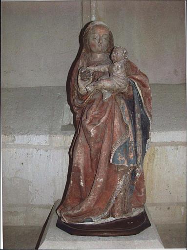Statue : Vierge à l'Enfant ; vue d'ensemble