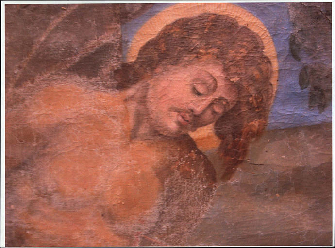 Retable, tableau : saint Sébastien, détail du saint