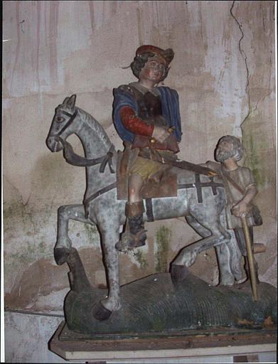 Groupe sculpté : la Charité de saint Martin, vue d'ensemble