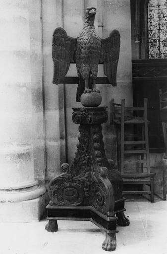 Lutrin (aigle-lutrin), bois sculpté, 17e siècle