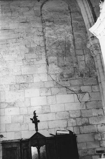 Peintures monumentales, mur Ouest de la sacristie