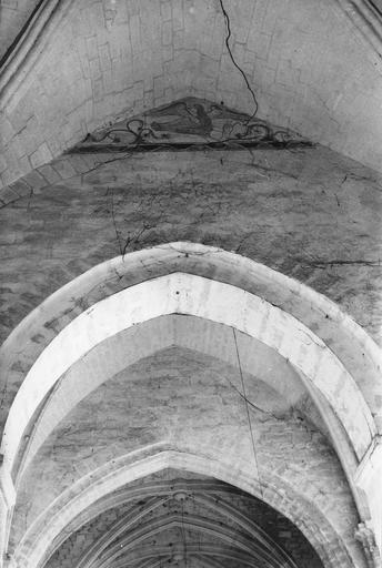 Peintures monumentales, mur Sud de la sacristie