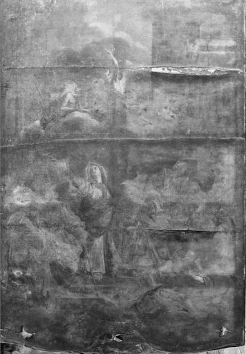 tableau : Le Triomphe de la Vierge, huile sur toile