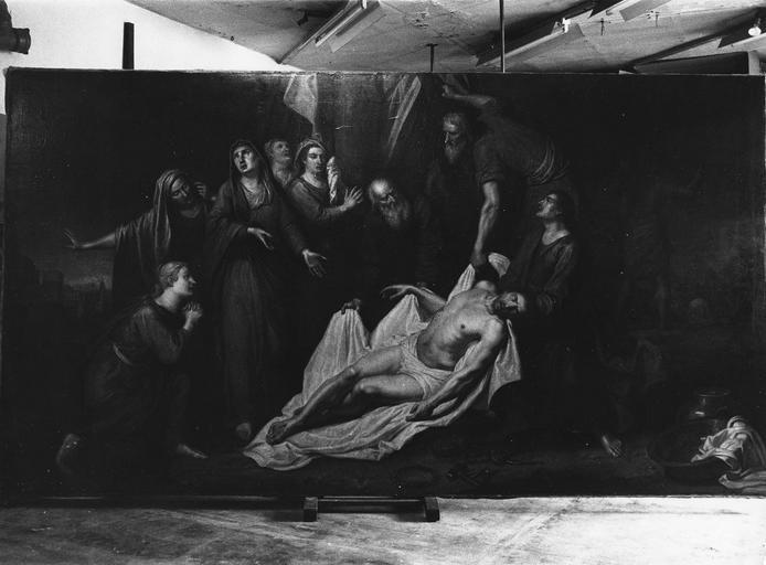 Tableau : La Descente de croix, huile sur toile