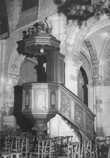 Chaire à prêcher, bois, 18e siècle