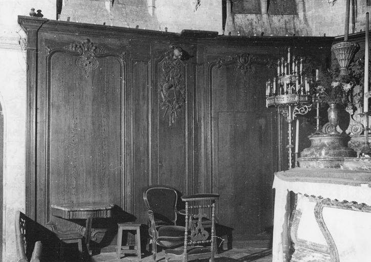 Lambris de revêtement, boiseries du choeur, 18e siècle