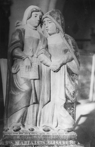 Groupe sculpté : La Visitation, bois, 16e siècle