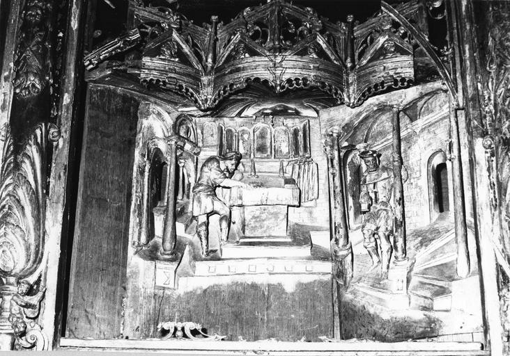 Retable : Scènes de la vie de la Vierge, détail