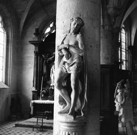 Statue : Le Christ au pilori  ou Ecce Homo, pierre, 16e siècle