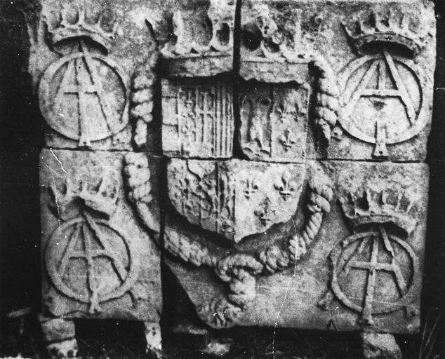 Plaque commémorative aux armes de Lorraine et de Guise, 1563-1566