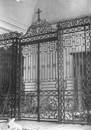 Clôture liturgique, grille, bois, début 19e siècle