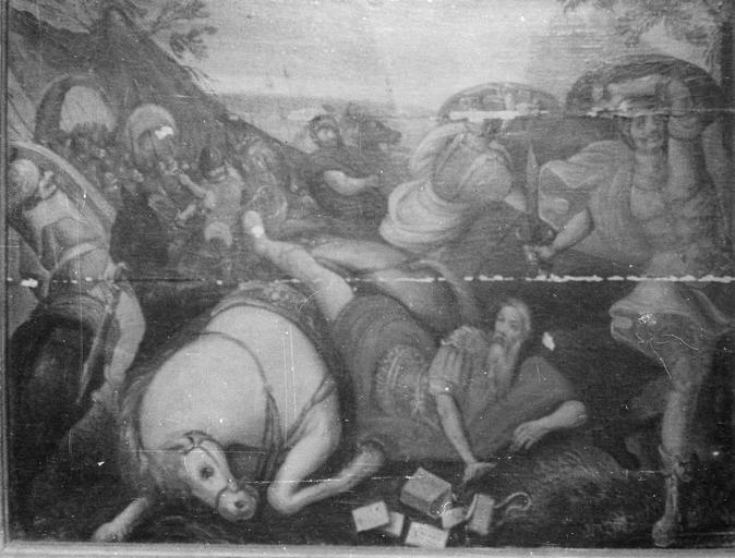 Tableau : La Conversion de saint Paul, panneau peint, 16e siècle