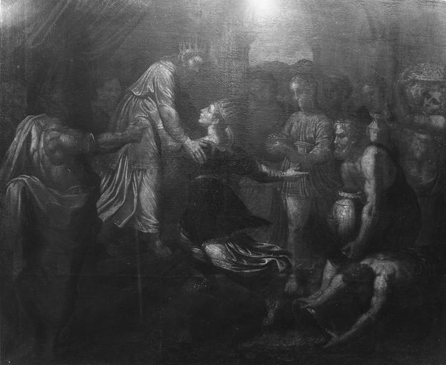 Tableau : Esther et Assuerus, huile sur toile
