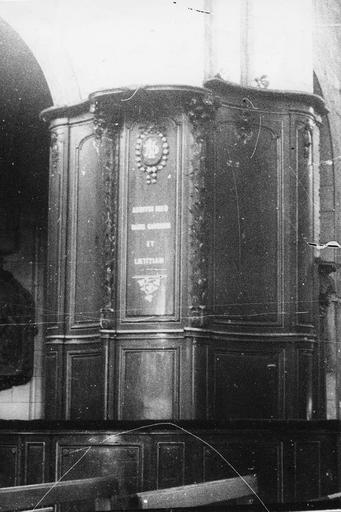 Banc d'oeuvre, bois, 18e siècle