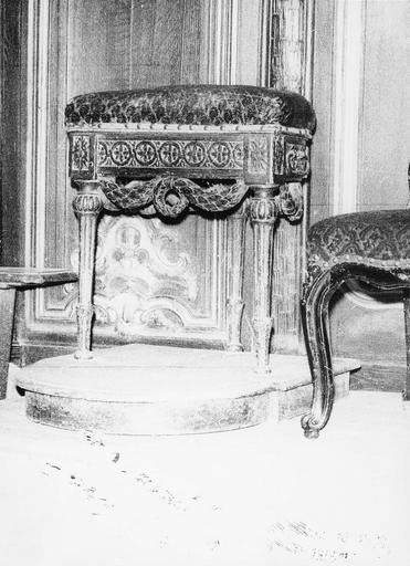 Tabouret de chantre, époque Louis XVI