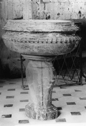 Fonts baptismaux, marbre, 18e siècle