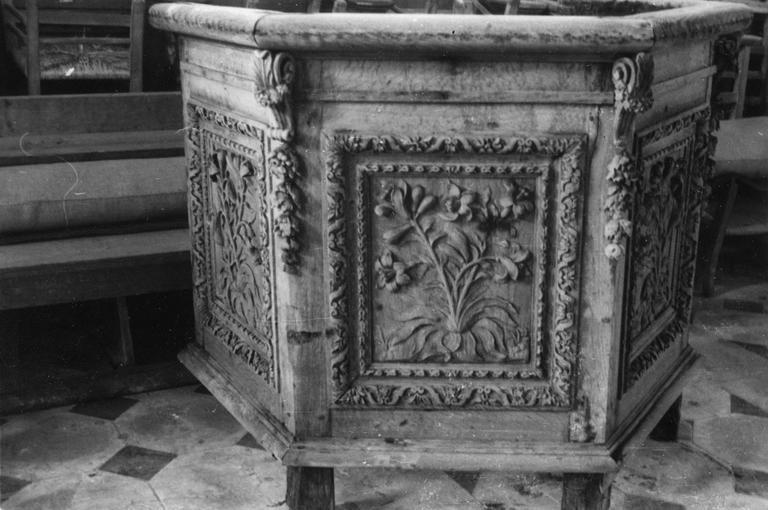 Chaire à prêcher, 17e siècle, détail de la cuve
