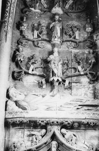 Bas-relief : L'Arbre de Jessé, pierre, 15e siècle