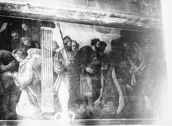 Peinture monumentale : l'Adoration des bergers, l'Adoration des Mages