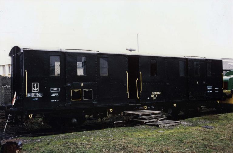 Wagon fourgon à deux essieux, type night ferry, N°Bd2 f 26 417