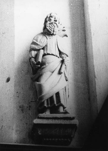 Statue : saint Simon, pierre, 16e siècle