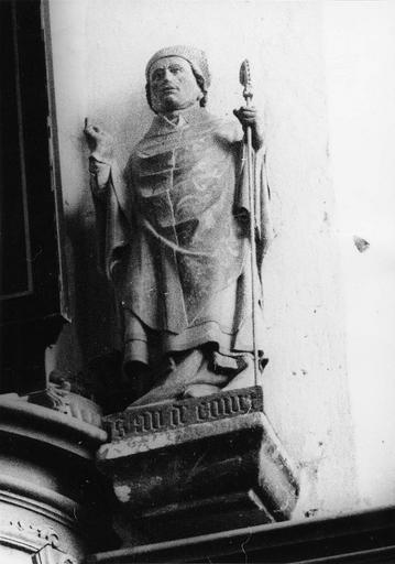 Statue : saint Aldicourt, pierre, 16e siècle