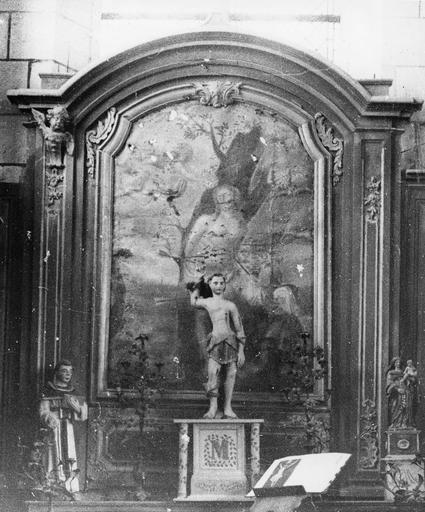 Autel latéral Nord, tableau : Le Martyre de saint Sébastien, huile sur toile, 18e siècle