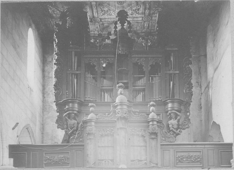 orgue de tribune : tribune d'orgue ; buffet d'orgue, vue générale