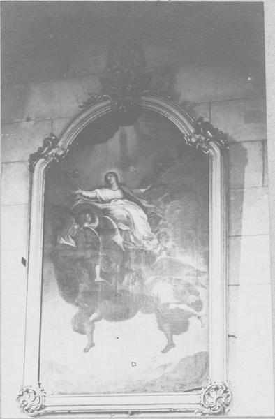 tableau, cadre : l'Assomption de la Vierge, vue générale