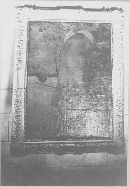 tableau: saint Sébastien, cadre, vue générale