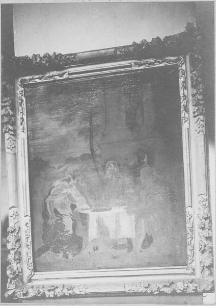tableau : Les Pèlerins d'Emmaüs, dit Le souper d'Emmaüs, cadre, vue générale