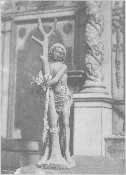statuette : saint Sébastien, vue générale