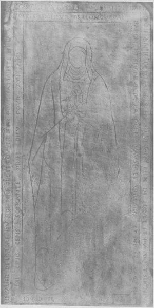 2 dalles funéraires d'Anne de Linanges, femme de Claude de Boussu et de Nicolas de Boussu