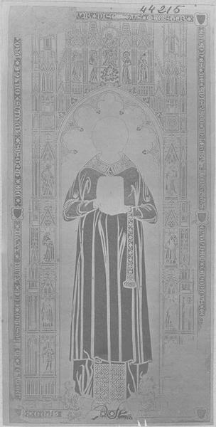 Dalle funéraire de Jean d'Anizy, chanoine de Laon