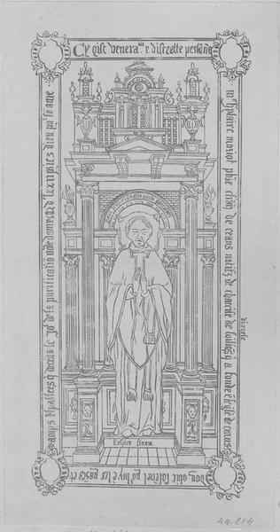 Dalle funéraire de Hilaire Mariot, chanoine de Laon