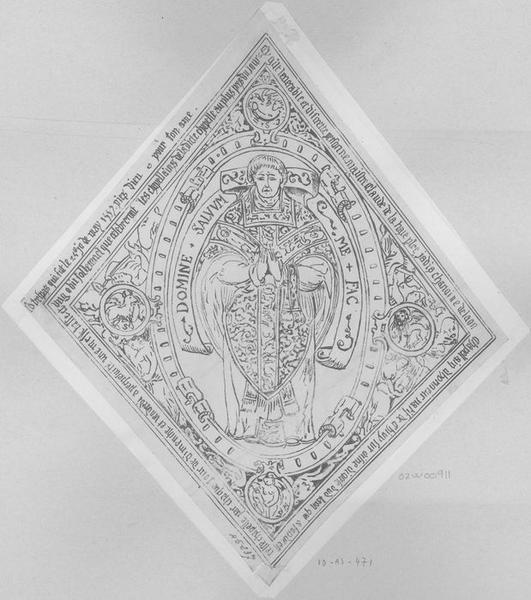 Dalle funéraire de Claude de la Haye, chanoine de Laon