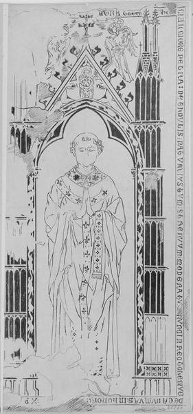 Dalle funéraire de Thoulis, chanoine de Laon