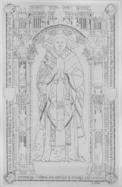 Dalle funéraire de Pierre de Saroult, chanoine de Laon