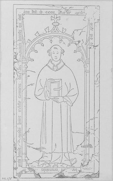 Dalle funéraire de Prudhomme, chanoine de Laon