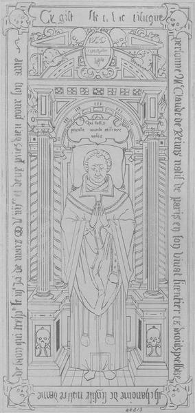 Dalle funéraire de Claude de Reims, chanoine de Laon