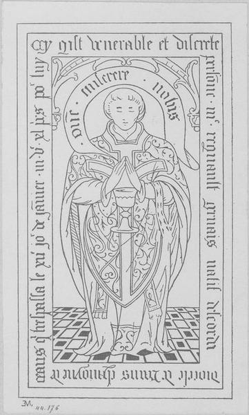 Dalle funéraire de Régnault Gervais, chanoine de Laon