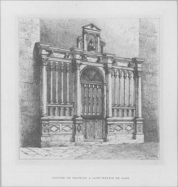 Clôture de la chapelle du bas-côté sud