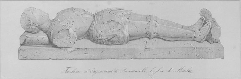 Dalle funéraire (gisant) d'Enguerrand de Bournonville