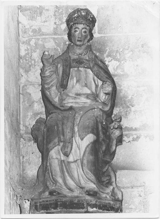 Statue : Saint Evêque assis