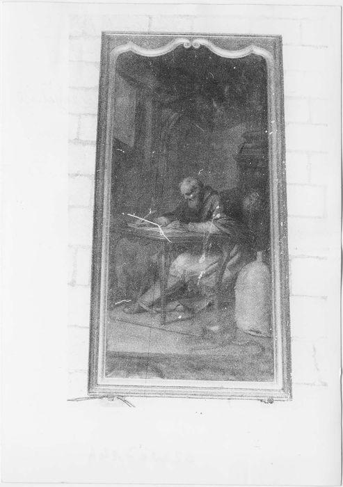 Deux tableaux représentant les évangélistes et leurs cadres