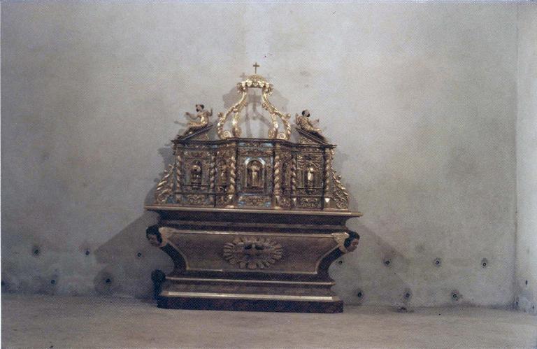 Tabernacle et exposition, bois doré, 17e-18e siècles, vue générale